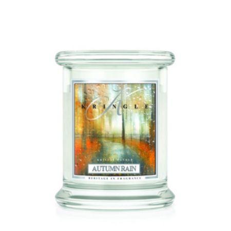 Autumn Rain świeca zapachowa Kringle Candle Jesienny Deszcz słoik 8,5oz 240g