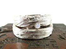 Trauringe EHERINGE-SET Silber mit Opal