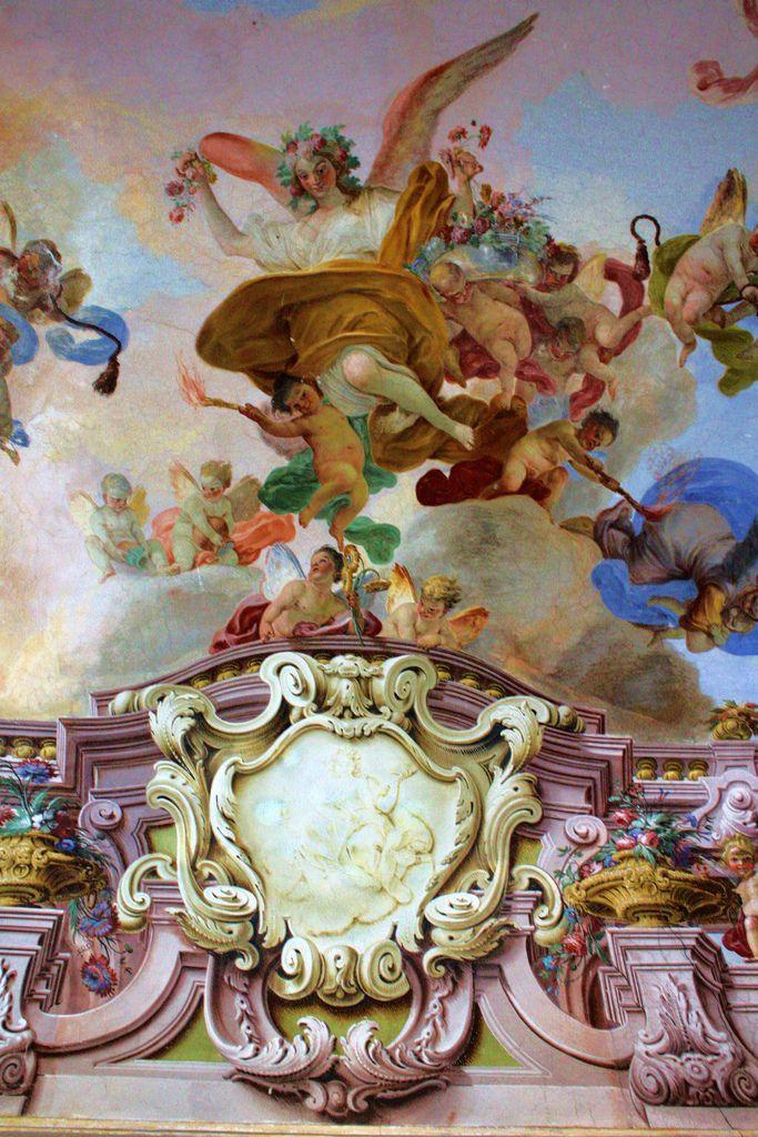 Reggia di Portici (detail of the Reggia di Portici, in Palazzo Reale, in Naples,)