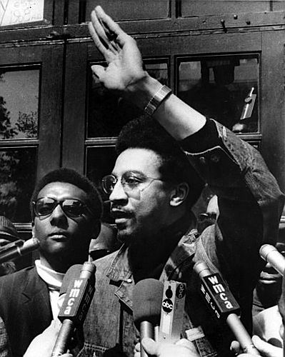 Hubert G. (H. Rap) Brown, writer, activist, and Student Nonviolent  Coordinating Committee Chairman with Stokely Carmichael.