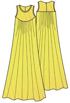 Выкройки платьев: длинное платье в пол для полных - Бесплатные выкройки для шитья одежды. Porrivan
