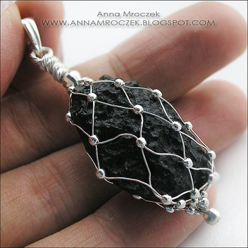 I can see a bottle wrapped this way also...absolutely adore this method of wire wrapping!  by Anna Mroczek - Exclusive Jewelry