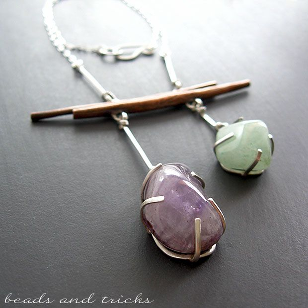 Copper and sterling silver necklace | Handmade by Beads and Tricks