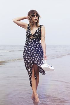 Make like blogger Megan Ellaby and mix up your party wear with a softly draped dress. /search/?q=%23Topshop&rs=hashtag