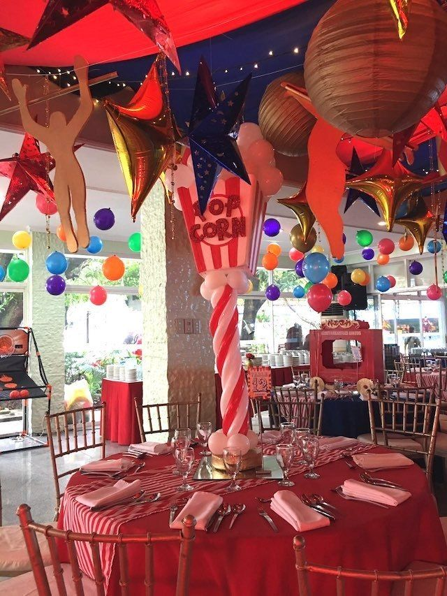 Andres Carnival Themed Party Table Centerpiece Carnival Themed Party Vintage Circus Birthday Party Carnival Birthday Parties