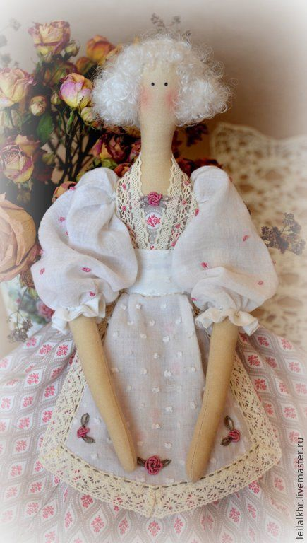 """Купить Тильда """"Аврора"""" - бледно-розовый, тильда, тильда кукла, тильда ангел, тильда принцесса ☆"""