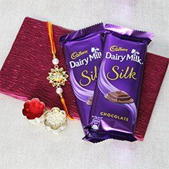 Buy Silky Rakhi Affection for loving Bro!  #RakhiBazaar #FreeShipping #Rakhidelivery