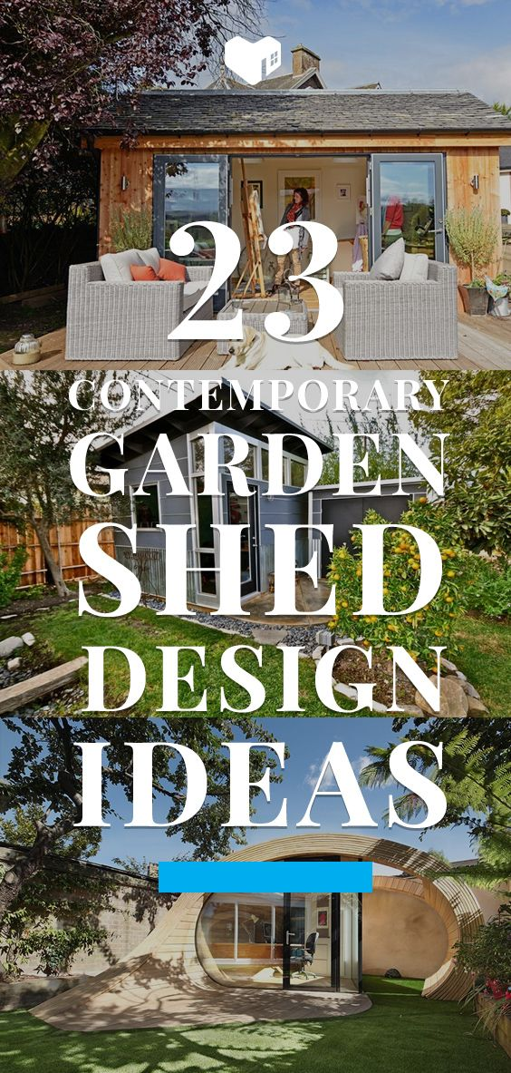 23 Impressive Contemporary Garden Shed Designs Outdoor living