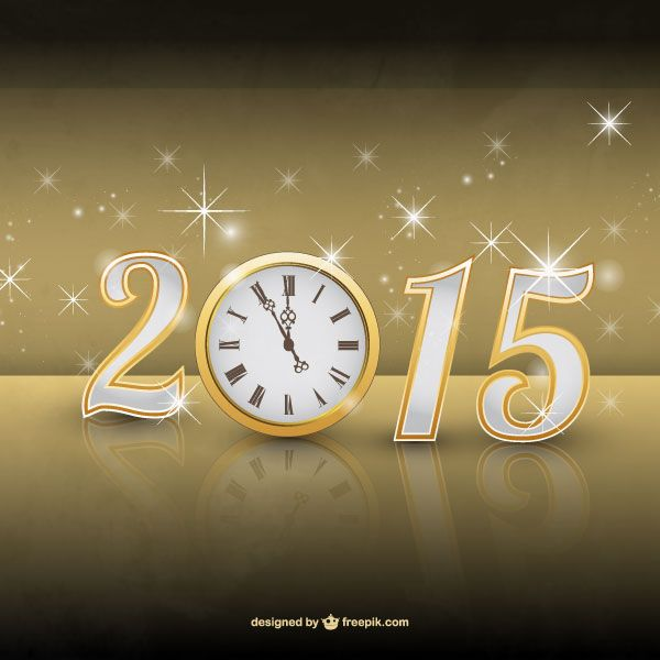 Year 2015 Glowing Background Vector