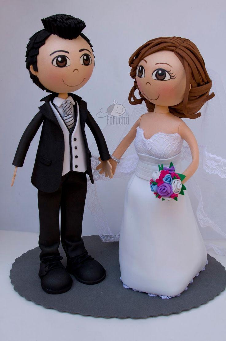 novios boda goma eva