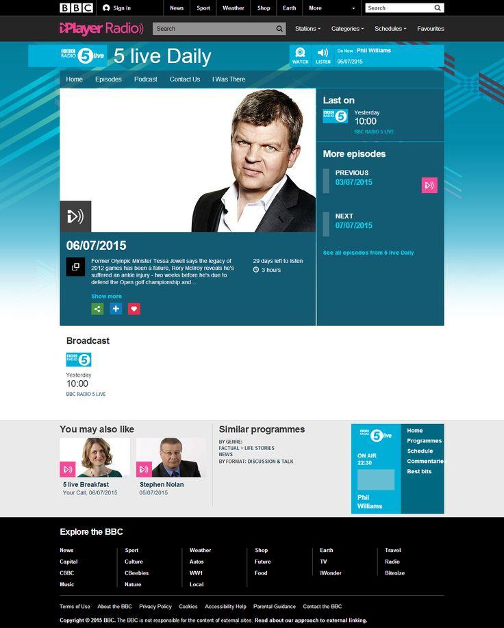 BBC Radio 5 Live - 5 Live Daily (live from Panathlon swim finals) - 6 July 2015