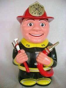"""Fireman Talking Cookie Jar Well this fireman has moving eyes and mouth while he talks. He says, """"If you can't stand the heat, get out of the cookie jar"""". It comes with 3 AA batteries. http://theceramicchefknives.com/talking-cookie-jar/  Fireman Talking Cookie Jar, Lion Cookie Jar, Lion Talking Cookie Jar, Nickelodeon Spongebob Squarepants Talking Cookie Jar, Novelty Cookie Jars, singing cookie jars, Singing Treat Jar CAT Song: Pussy Cat, Spongebob Squarepants Talking Cookie Jar, Talking…"""