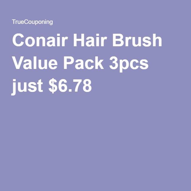 Conair Hair Brush Value Pack 3pcs just $6.78
