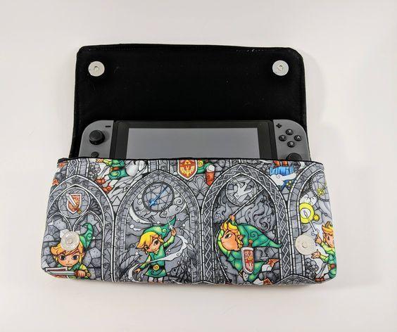 Nintendo Switch Case Zelda Case Gamer Gift Switch Case Geeky Gift Nintendo Gift Switch Cozy Legend of Zelda Gamer Accessories Nerd by SmashCraftShop o…