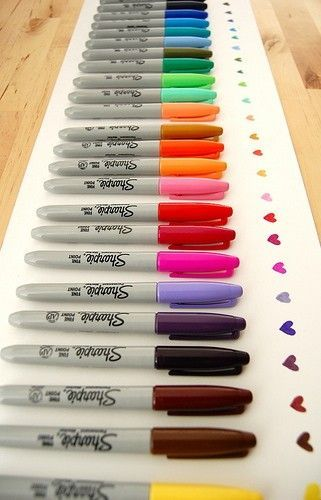 permanent rainbows: Colour, Colors, Sharpie Pens, Sharpie Color, Colorful Sharpie, Art Supplies, Sharpie S