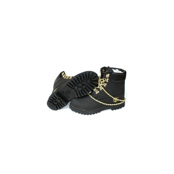 Black/Gold FreeShipping Sales UK [Womens Timberland 6 Inch Premium... ❤ liked on Polyvore featuring shoes, boots, kohl shoes, timberland footwear, waterproof shoes, black gold shoes and gold shoes