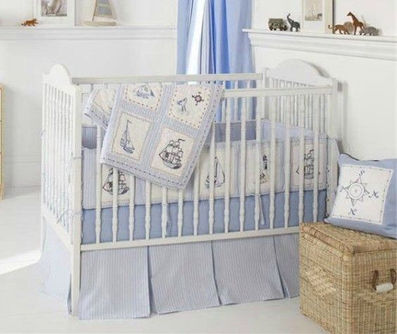 Nautical Crib Bedding Beach, Beach Baby Crib Bedding