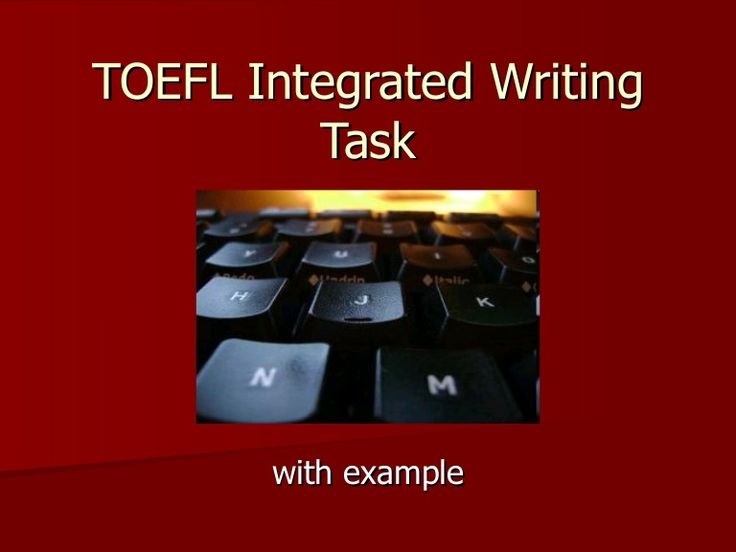 toefl ibt + independant writing sample essay