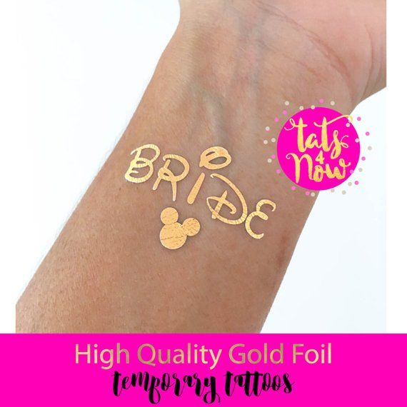Disney Themed Temporäre Tattoos sind perfekt für jede Bachelorette Party