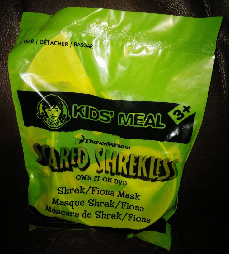 2013 Wendy's Kids Meal Scared Shrekless Shrek Fiona Mask Factory Sealed New #DreamWorks