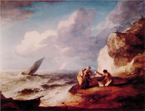 Rocky Coastal Scene - Thomas Gainsborough