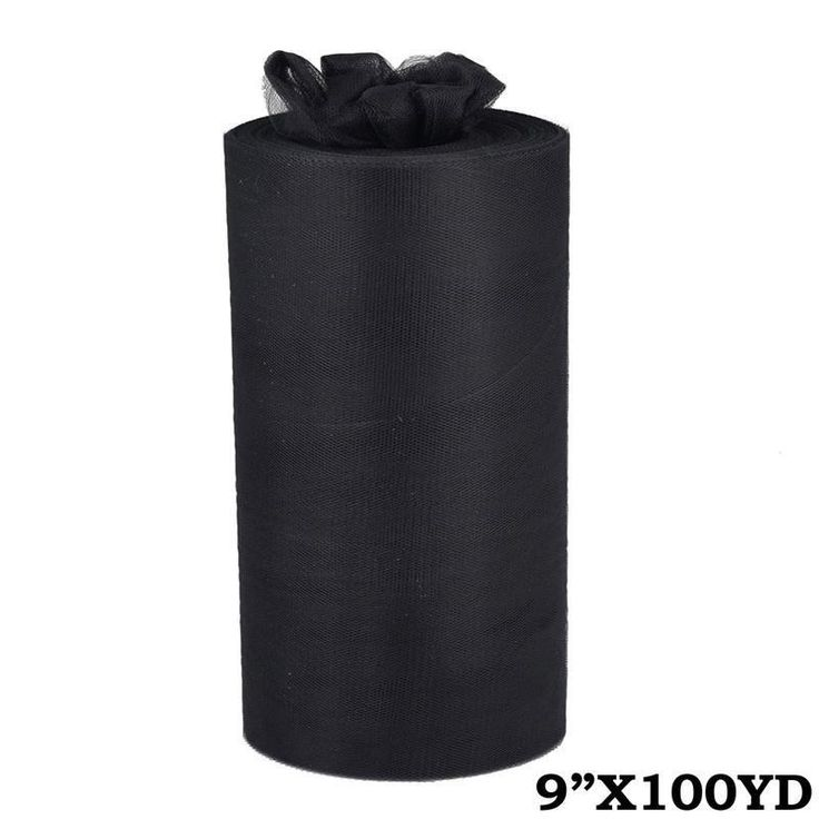 "9""x100yd Tulle Rolls - Black 