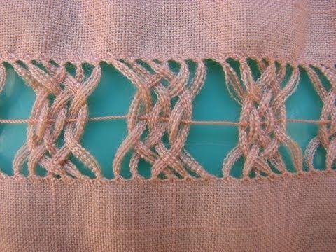 Suscríbete: http://goo.gl/pJNMTU Muy fino trabajo de deshilado  en el que se entrelazan las vainicas para dar una hermosa red. La utilizo para adorna