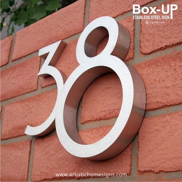 Gallery For > Modern House Number Signs