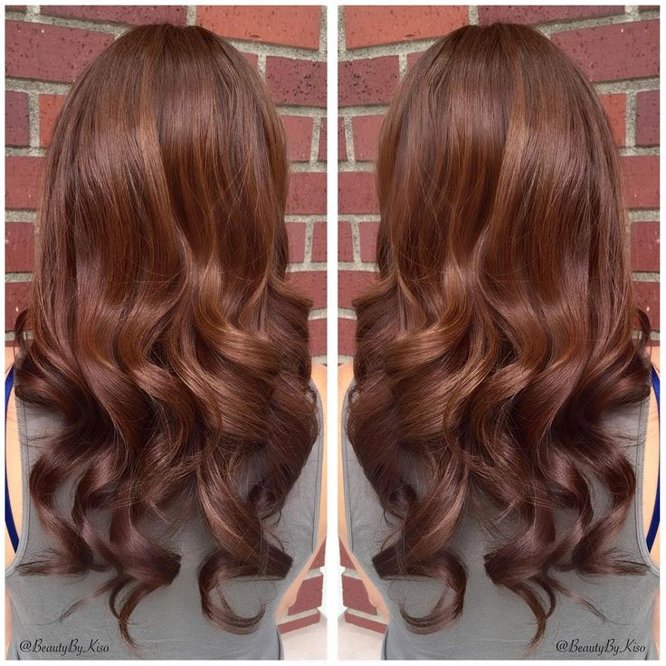 Warm Chestnut Brown Hair Color For My Beautiful Bride The