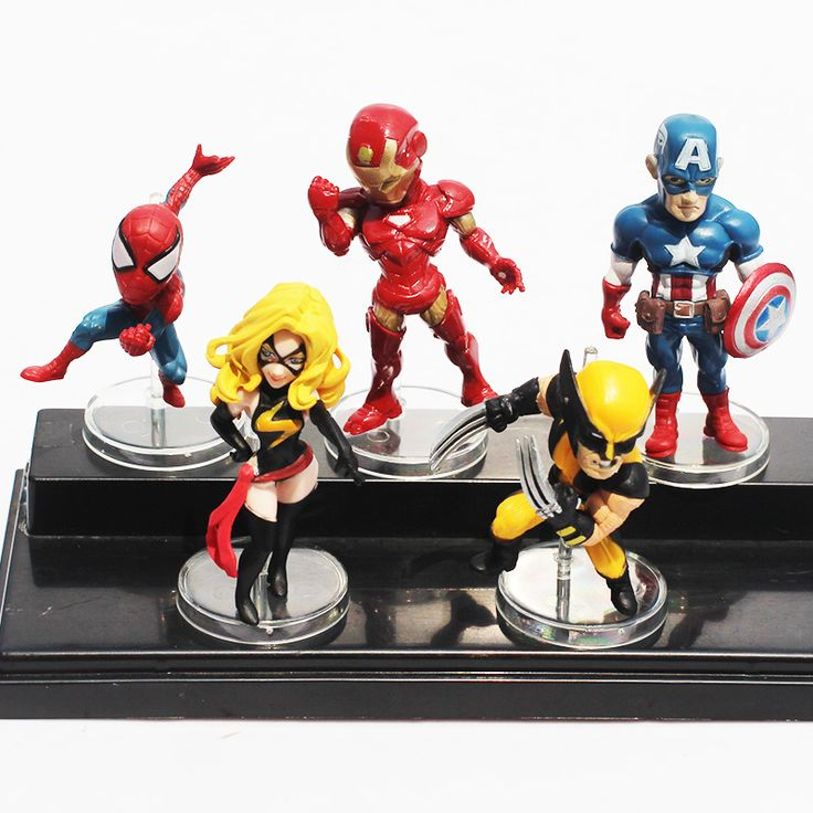 Marvel Figures Set //Price: $18.00 & FREE Shipping //     #avengers #justiceleague #superman #spiderman