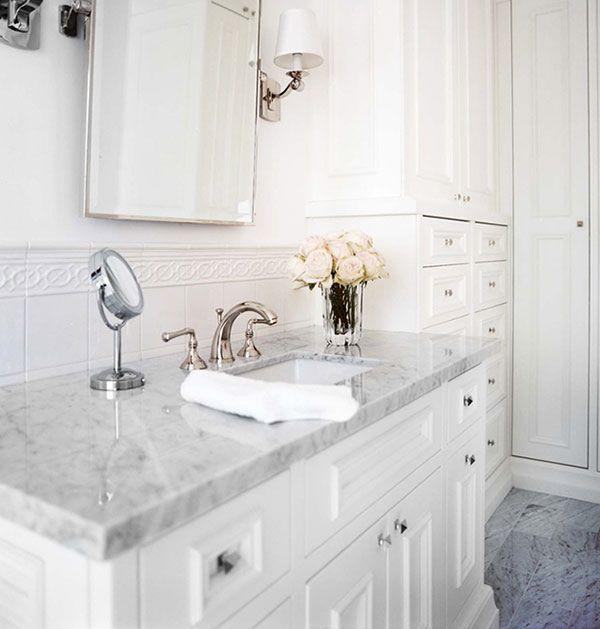 Gorgeous white bathroom
