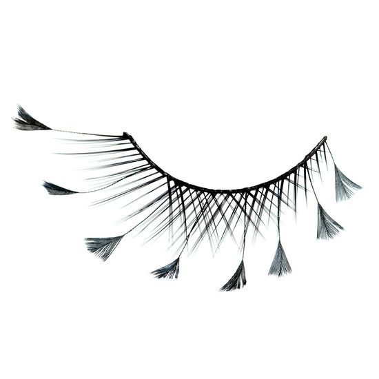 Inglot Cosmetics Decorated Feather Eyelashes 62F product smear.... I love them....vegans would kill me...???