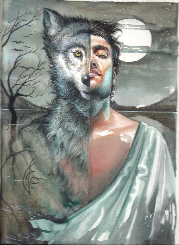The Werewolf: A creature who turns from human to wolf based on the cycle of the moon. Werewolf stories were shared all in all parts of the world where the wolf was predominate. Some stories even date back to 1 A.D.