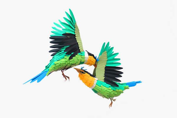 The Colombian artistDiana Beltran Herreramanages to craft surprisingly lively sculptures out of the flat medium, cutting and shaping sheets into assorted species of birds and fish.