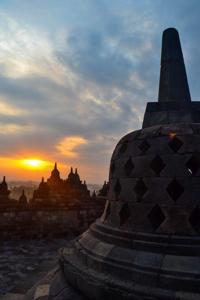 Sunrise at Borobudur - Java, Indonesia
