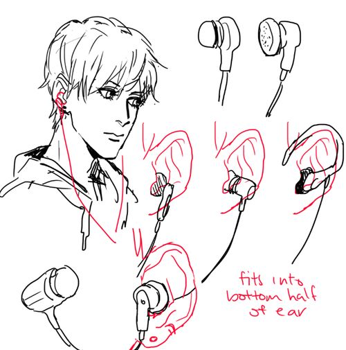how to draw simple headphones