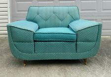 Vintage Atomic Retro 50's Side Arm Sofa Chair Mid century modern 1957 Danish