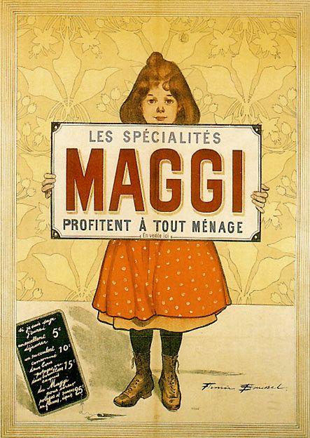 Affiche publicitaire de la maison Maggi, 1896.