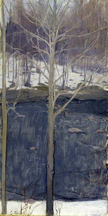 Aspen Trees, Aspens - Ellen Thesleff 1893 Finnish 1869-1954