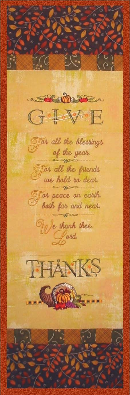 A wonderful prayer of Thanksgiving.   So thankful to be spending Thanksgiving with my family.   So Blessed.