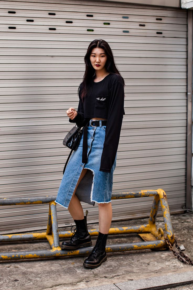 Shoes Dr Martens Street Style Jung Sehee Seoul What