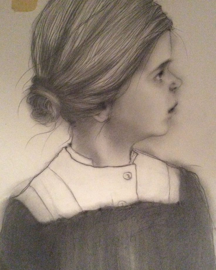 Christel Boquist drawing. Portrait of Maren