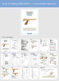 Картинки по запросу rubber band gun free plans