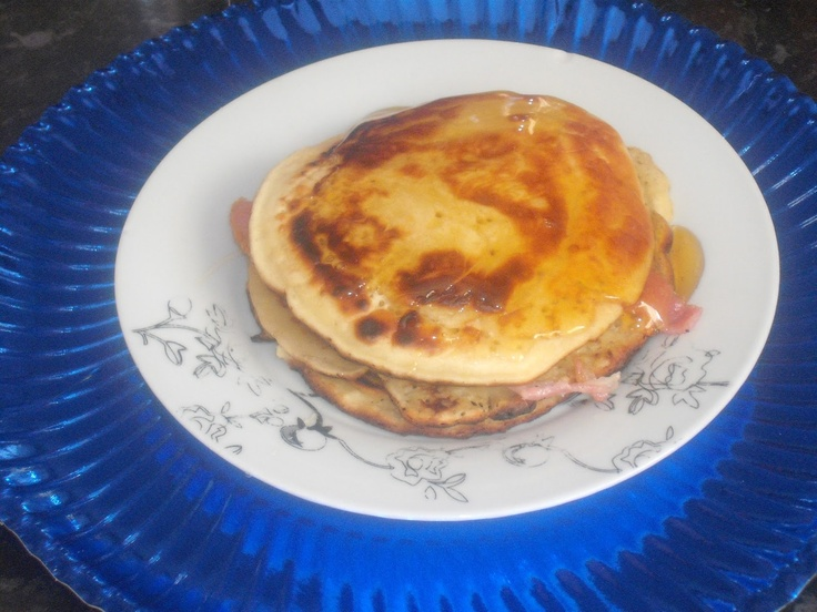 Food, glorious food: Nigella's American pancakes with crispy bacon and golden syrup.
