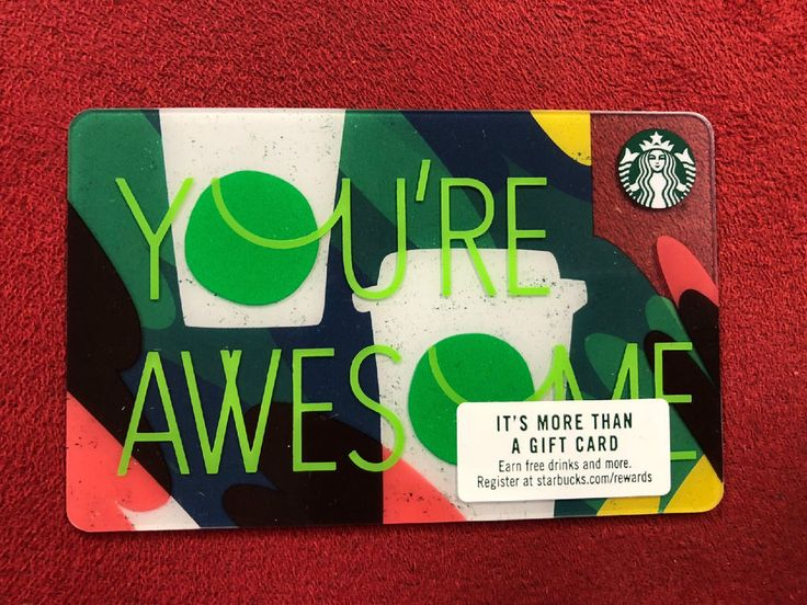 New starbucks 2018 youre awesome gift card starbucks