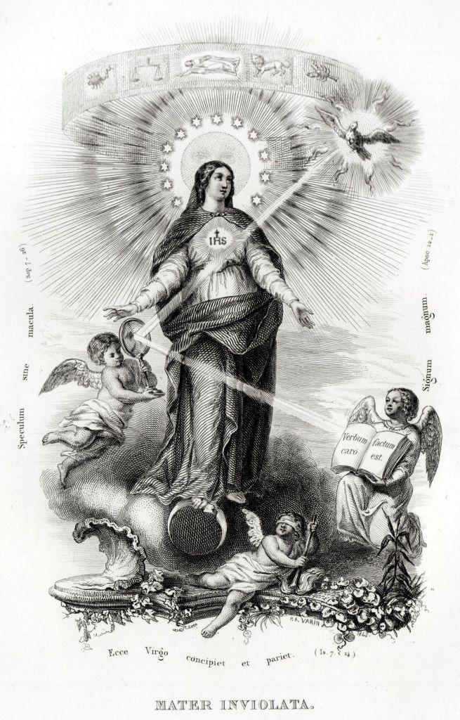 17 Litanie Lauretane SS Vergine Maria Madonna Religione Acciaio Capolavoro 1850 | eBay