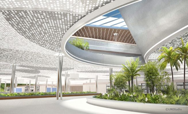 LOOS van VLIET / UNStudio - Landscape concept Taiwan Taoyuan International Airport Terminal 3