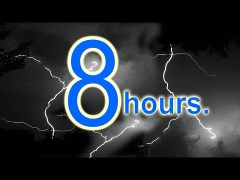 Thunderstorm Sound 8 hours - Relaxation, sleep sounds, rain sounds, meditation, nature sounds