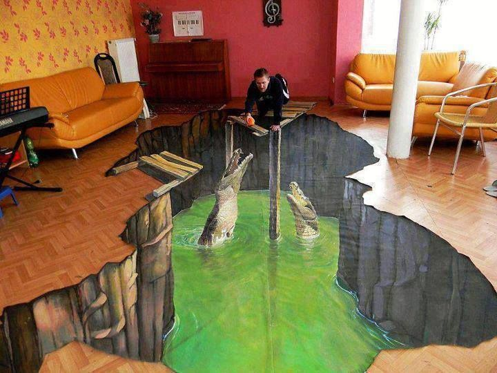 Stunning 3D Chalk Art