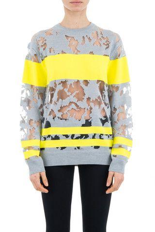 Alexander Wang woman yellow semi-sheer sweatshirt - LuxuryProductsOnline